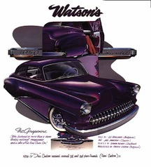 larry watson grapevine 1950 chevrolet chevy tudor two door sedan burgundy corvette grille lowered lake pipes