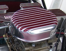 finned aluminum air cleaner with paint and polish unpolish polished or unpolished